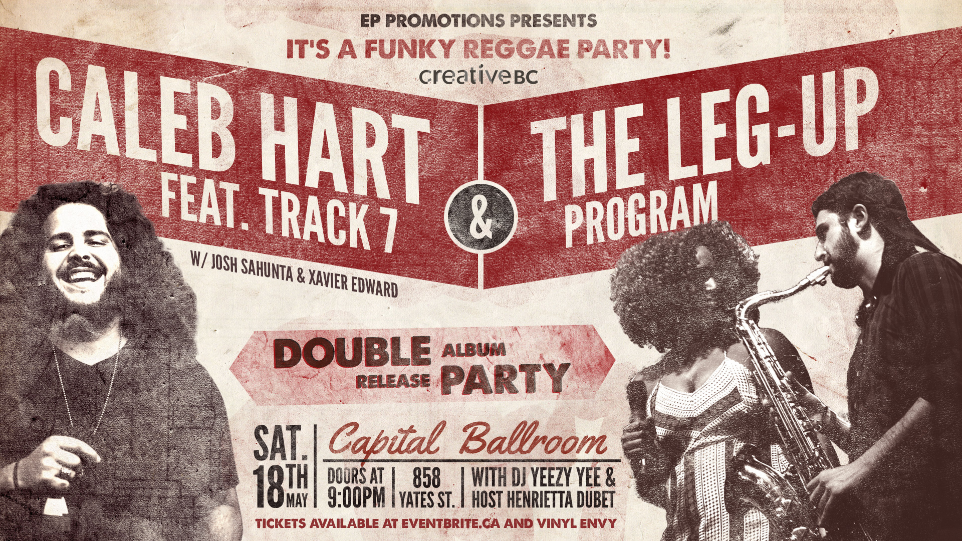 Caleb Hart Massive + The Leg-Up Program Double Album Release May 18 Capital Ballroom
